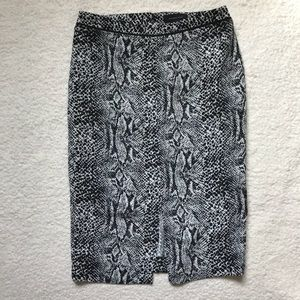 Who What Wear Snake Print Pencil Skirt